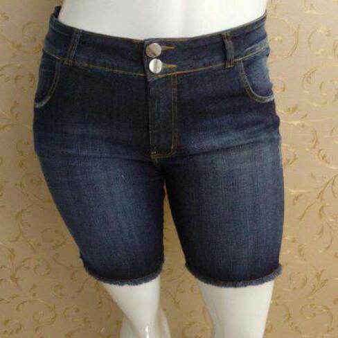 BERMUDA COM BARRA DESFIADA ELEGANCE 17113 - Jeans