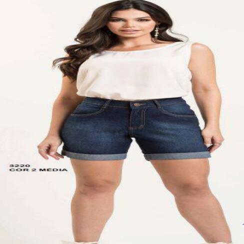 BERMUDA CONFORT BARRA DOBRADA KALLY JEANS 3220 - Jeans