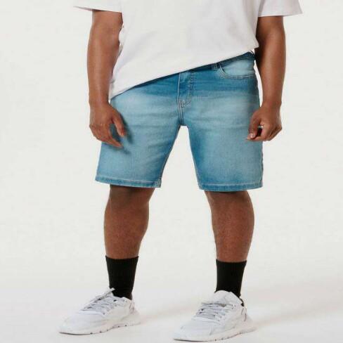 BERMUDA JEANS BÁSICA MASCULINA HERING H4BW - Jeans claro