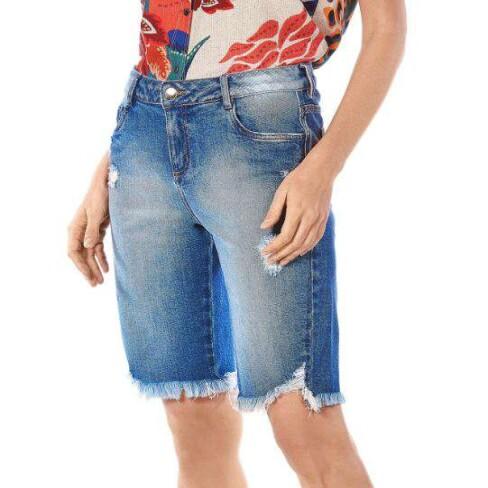 BERMUDA JEANS CICLISTA MORENA ROSA 204360 - Jeans