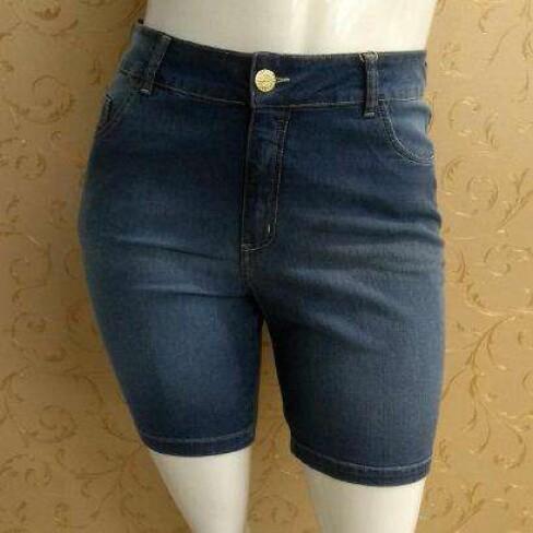 BERMUDA JEANS ELEGANCE 17421 - Jeans escuro