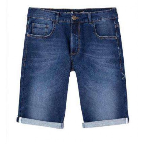 BERMUDA MOLETOM JEANS MASCULINA HERING H4AM - Jeans escuro