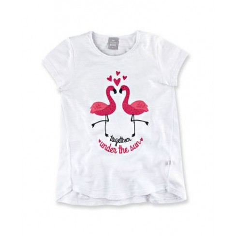 BLUSA FEMININA INFANTIL GLITTER HERING 5CFL - Branco