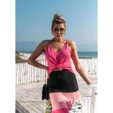 BLUSA MANGA LONGA COM TRAMAS VERA TRICOT 04485 - Pink