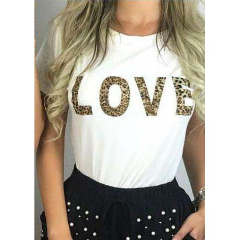 BLUSA TSHIRT LOVE ANE BLANC - Off white