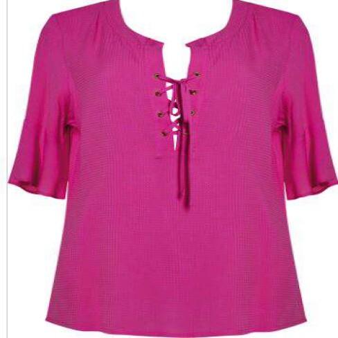 BLUSA VISCOSE MAQUINETADA SEIKI 320518 - Pink