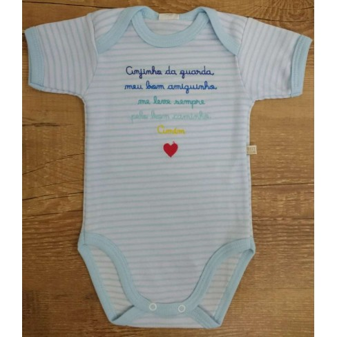 BODY FRASES BEST CLUB BABY - Azul