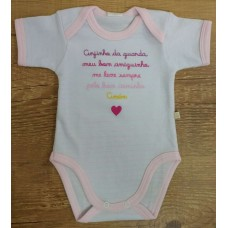 BODY FRASES BEST CLUB BABY - Rosa