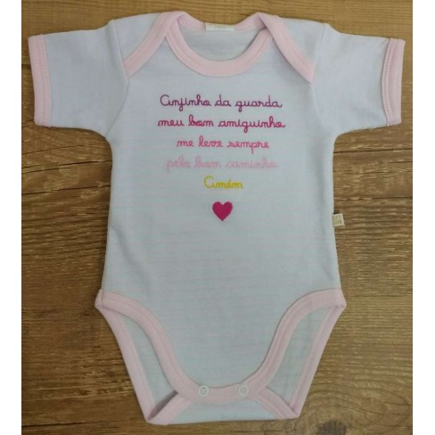 BODY FRASES BEST CLUB BABY - Rosa