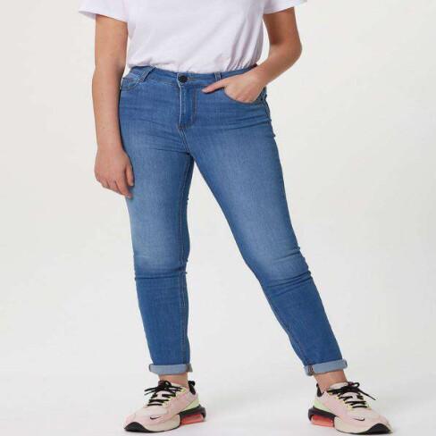CALÇA FEMININA SUPER SKINNY JEANS HERING KZF4 - Jeans claro
