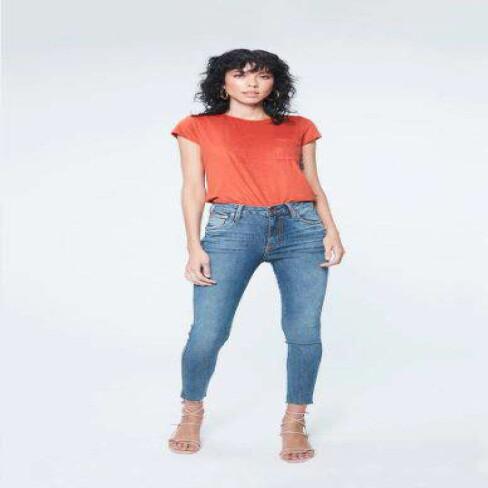 CALÇA JEANS SKINNY CROPPED FEMININA DAMYLLER 9N0R - Jeans