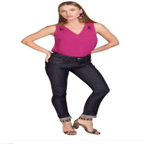 CALÇA JEANS SKINNY MARIA VALENTINA 203629 - Jeans escuro
