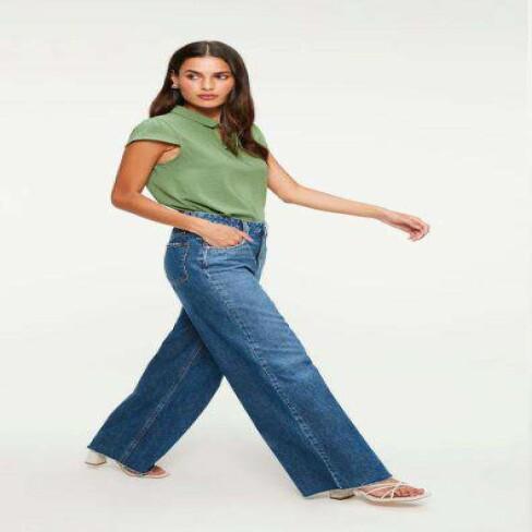 CALÇA JEANS WIDE LEG DAMYLLER 1N0RE72 - Jeans