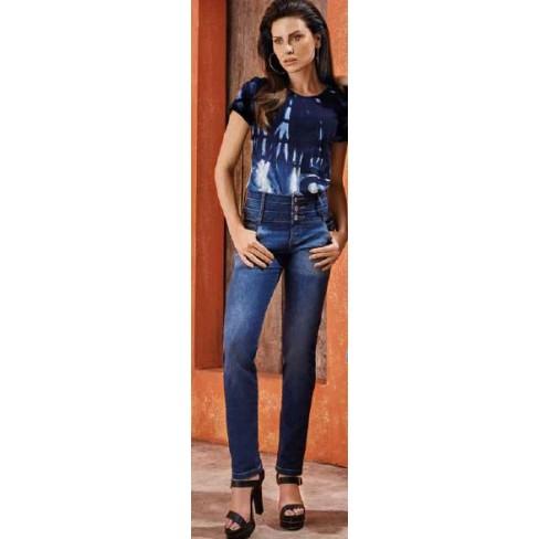 CALÇA CÓS INTER MORENA ROSA 202910 - Jeans