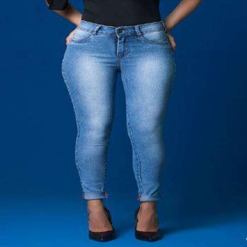 CALÇA FEMININA CIGARRETE KALLY JEANS 2137.81 - Jeans claro
