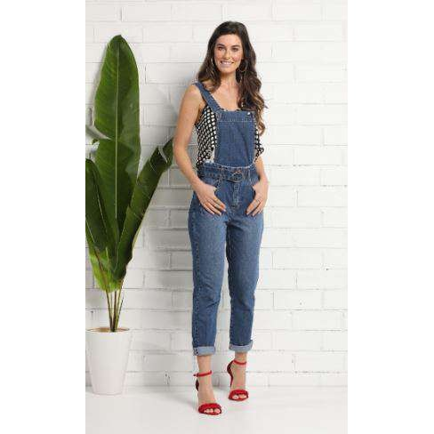 CALÇA JARDINEIRA KALLY JEANS 2167 - Jeans