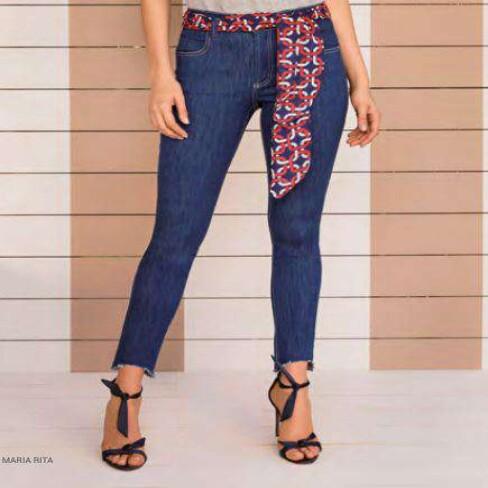 CALÇA JEANS CIGARRETE MARIA VALENTINA 203087 - Jeans