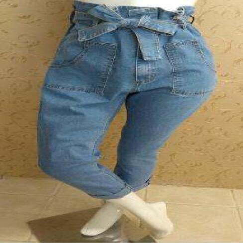 CALÇA JEANS CLOCHARD CINTURA ALTA LADY ROCK 11015 - Jeans