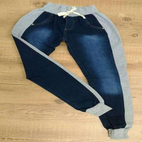 CALCA JEANS COM MOLETON HERYBELLA - Jeans