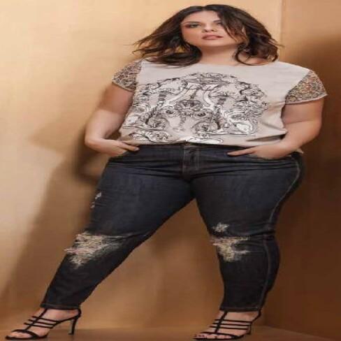 CALÇA JEANS ELEGANCE 17610 - Jeans escuro