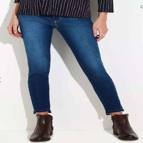 CALÇA JEANS FEMININA CIGARRETE PUSH UP HERING H954 - Jeans