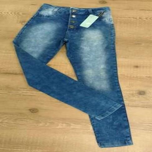CALCA JEANS HOT PANT C/BOTÕES ÉDEN 512 - Jeans