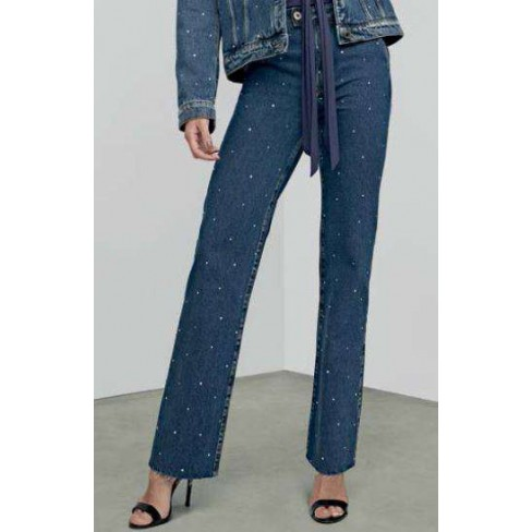 CALÇA JEANS RETA ANKLE SUPER HIGH ENNA 501CF002425 - Jeans