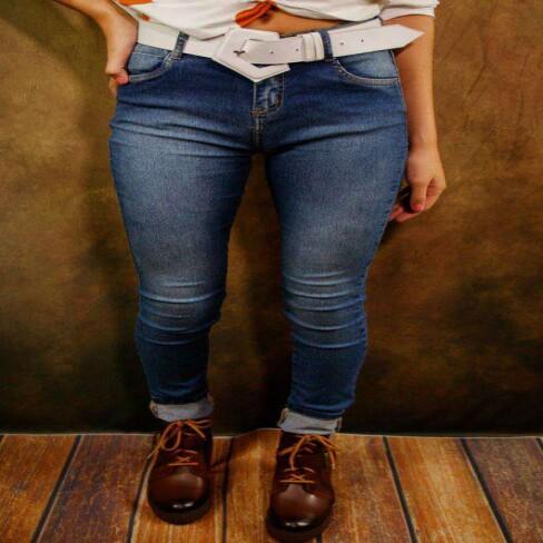 CALÇA JEANS SKINNY COS MEDIO MORENA ROSA 204296 - Jeans
