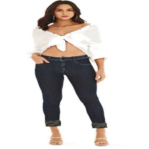 CALÇA JEANS SKINNY COS MEDIO MORENA ROSA 205118 - Jeans escuro