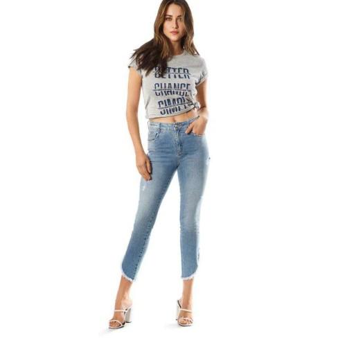 CALÇA JEANS SLIM CROPPED GIANE MORENA ROSA 205041 - Jeans