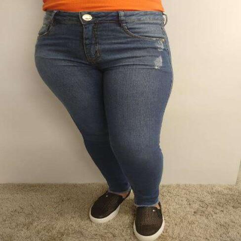 CALÇA JEANS SLIM CROPPED GIANE MORENA ROSA 205128 - Jeans