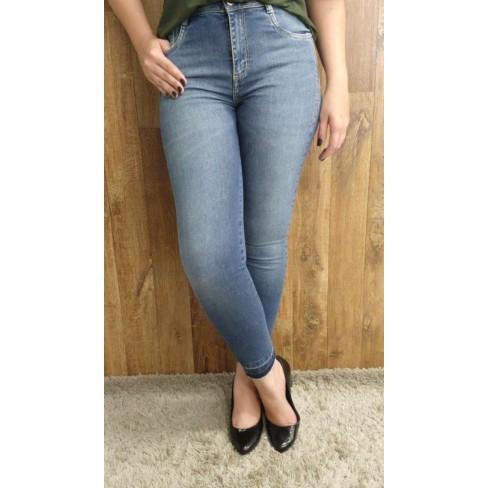 CALÇA JEANS SLIM CROPPED MORENA ROSA 204663 - Jeans