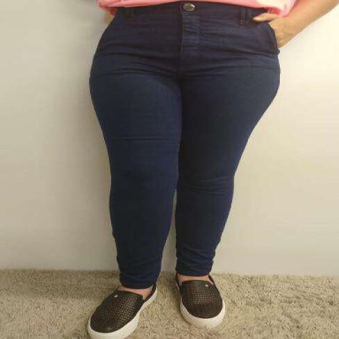 CALÇA JEANS SLIM MORENA ROSA 205121 - Jeans