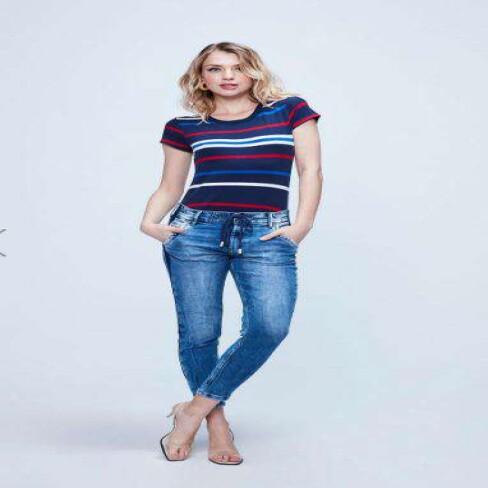 CALCA JOGGER JEANS FEMININA DAMYLLER 7N0SX99 - Jeans claro
