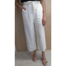 049dfa66c CALÇA PANTACOURT CLOCHARD LINHO MISTO VIVI FASHION - Off white