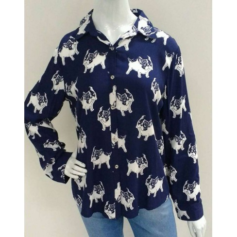 CAMISA DOG ONLY SHOW DF2227 - Estampada
