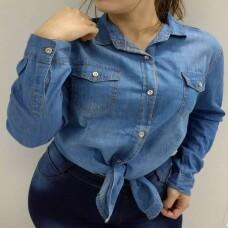 16d8e4b55d CAMISA JEANS CASUAL COM BOLSOS - Jeans