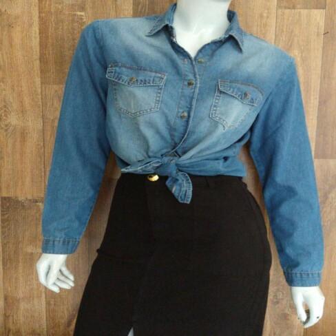 CAMISA JEANS FEMININA CONFORT KALLY JEANS 4022 - Jeans