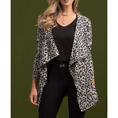 CARDIGAN MALHA TRICOT ESTAMPADO ANGEL 270105 - Animal print
