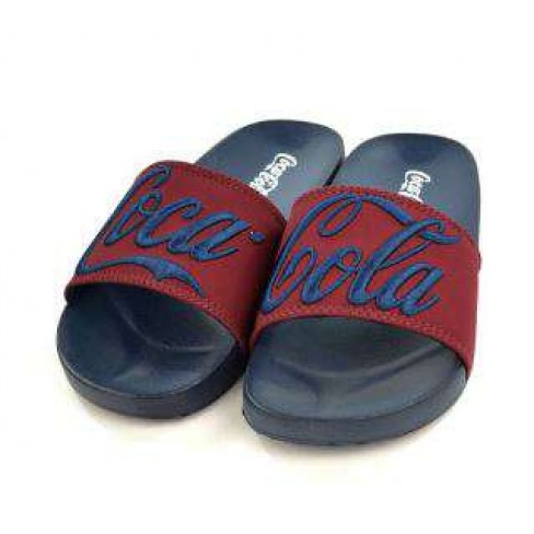 CHINELO SLIDE COM BORDADO COCA COLA CC2594 - Marinho