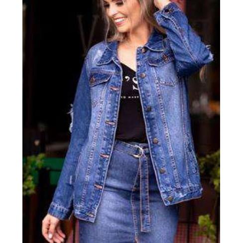JAQUETA DESTROYED FEMININA KALLY JEANS 4024 - Jeans