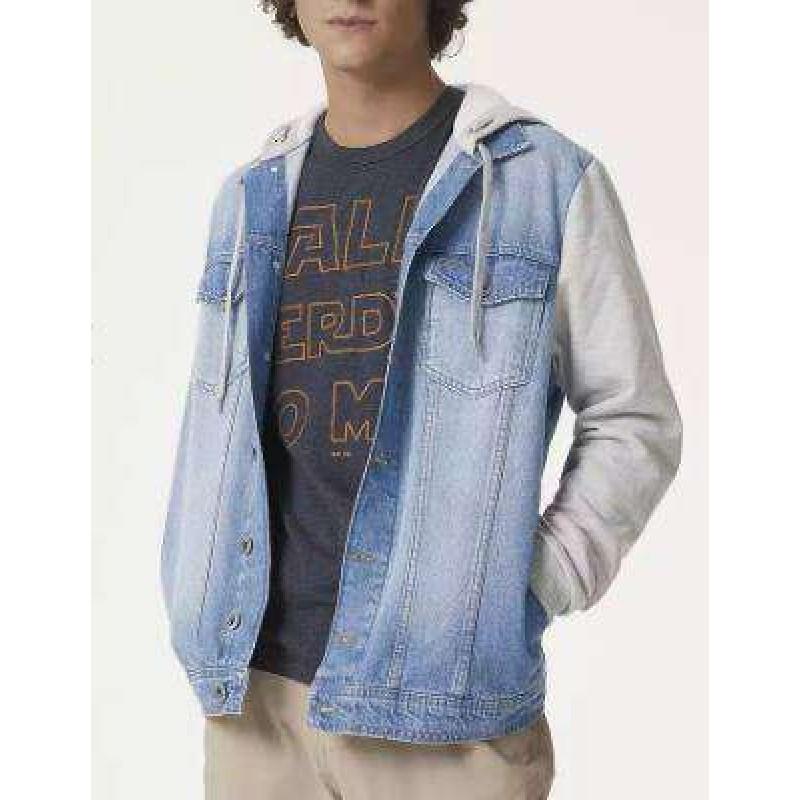 bb82bb182 JAQUETA JEANS MASCULINA COM MOLETOM HERING H86B - Jeans - Delabela