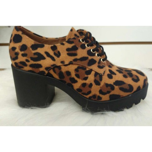 SAPATO OXFORD COM SALTO ANIMAL PRINT VIZZANO 1294.100 - Animal print