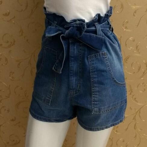 SHORTS JEANS CLOCHARD CINTURA ALTA LADY ROCK 11013C - Jeans