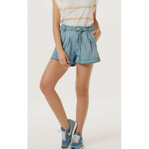 SHORTS JEANS COM CINTO FEMININO HERING HB7D - Jeans