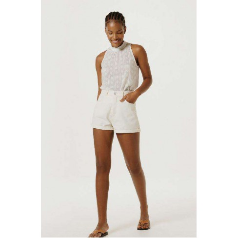 SHORTS JEANS MOM HERING HB7L - Off white