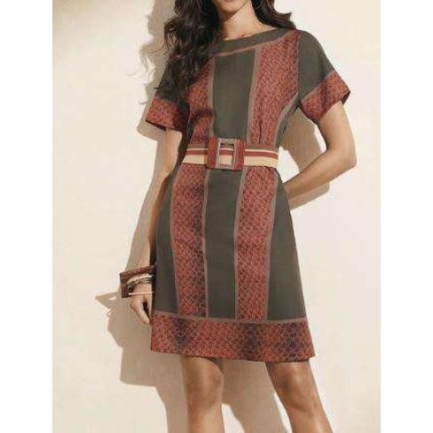 T-SHIRT DRESS COM SILK MORENA ROSA 108813 - Verde