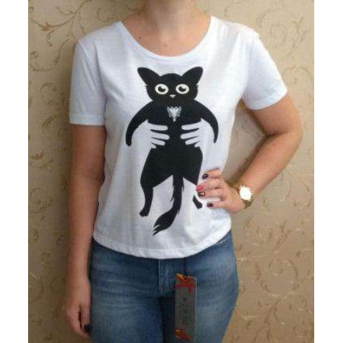T-SHIRT GIRL CAVA CAT CAVALERA 09.02.2883 - Branco